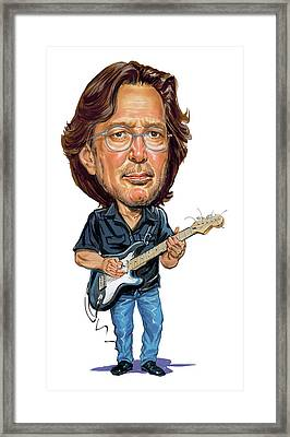 Eric Clapton Framed Print by Art
