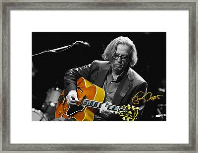 Eric Clapton Framed Print by Don Kuing