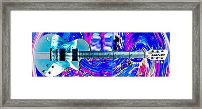 Eric Clapton Guitar Framed Print by Anthony Caruso