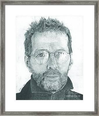 Eric Clapton Framed Print by Jeff Ridlen