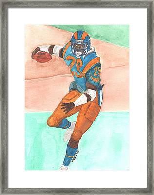 Eric Dickerson Los Angeles Rams Framed Print by Paul McRae