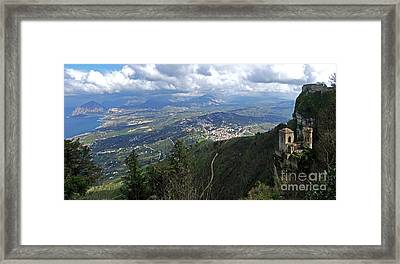 Erice In Sicily Framed Print by Mary Attard