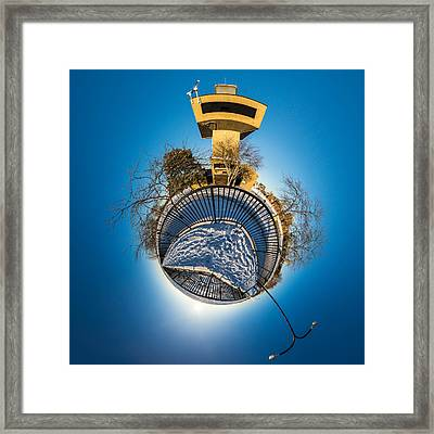 Erie Basin Marina Observation Tower Framed Print by Chris Bordeleau