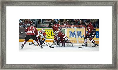 Erie Otter Connor Mcdavid Framed Print by Rob Andrus