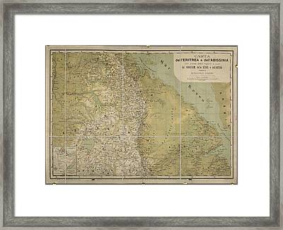 Eritrea And Abissinia Framed Print by British Library