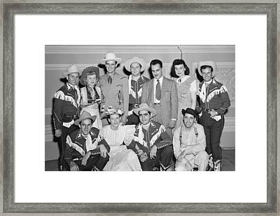 Ernest Tubb Minnie Pearl And Other Grand Ole Opry Stars At Carnegie Hall 1947    Framed Print by Mountain Dreams