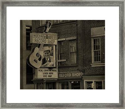 Ernest Tubb Record Shop Framed Print by Dan Sproul