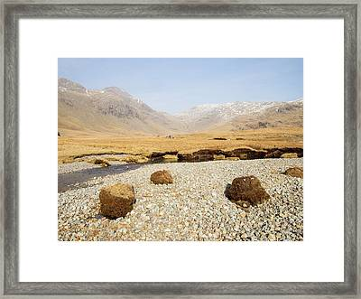 Eroded Peat On River Esk Framed Print by Ashley Cooper