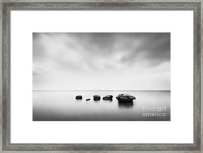 Erosion Framed Print by Rod McLean