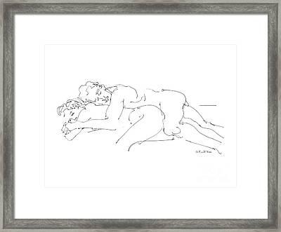 Erotic Art Drawings 2 Framed Print by Gordon Punt