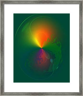 Eruption   Framed Print by Larry Bishop