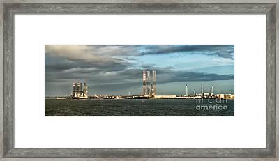 Esbjerg Harbor Denmark Metropol Of Energy Framed Print by Frank Bach