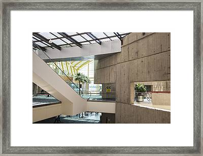 Escalator In Renaissance Center Framed Print by John McGraw