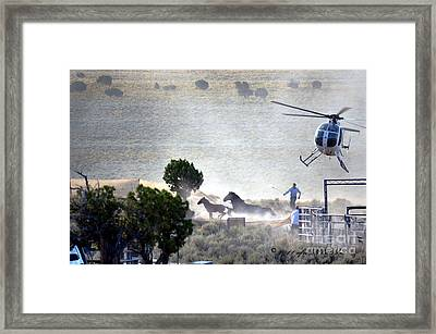 Escape From Butte Valley Trapsite Triple B Framed Print by Afroditi Katsikis