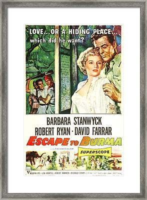Escape To Burma, Us Poster, From Left Framed Print by Everett