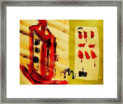 Escape V-world Framed Print by Paul Roe