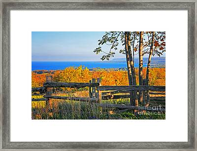 Escarpment Fall Colors Framed Print by Charline Xia