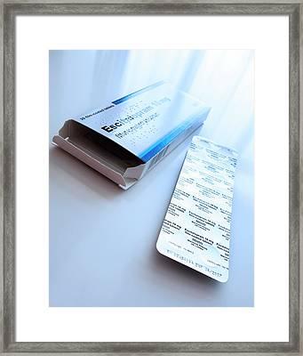 Escitalopram Antidepressant Tablets Framed Print by Cordelia Molloy