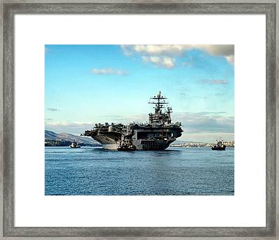 Escorted To Sea Framed Print by Mountain Dreams