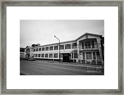 escuela no.1 school Ushuaia Argentina Framed Print by Joe Fox