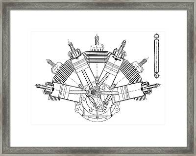 Esnault-pelterie Airplane Engine Framed Print by Science Photo Library
