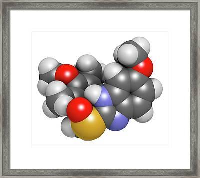 Esomeprazole Peptic Ulcer Drug Molecule Framed Print by Molekuul