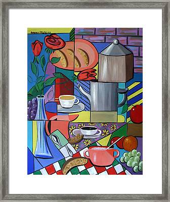 Espresso Framed Print by Anthony Falbo