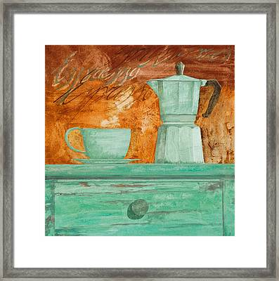 Espresso Framed Print by Guido Borelli