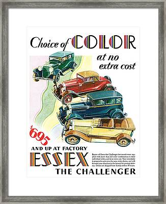 Essex Challenger Vintage Poster Framed Print by World Art Prints And Designs