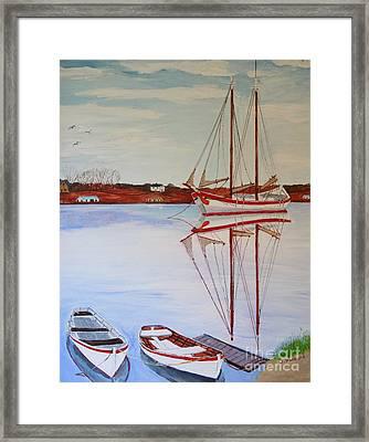 Essex Harbor Reflections Framed Print by Bill Hubbard