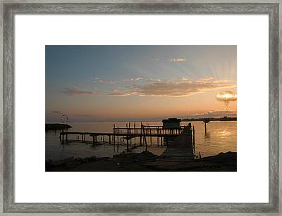Esso Framed Print by Mark Zelmer
