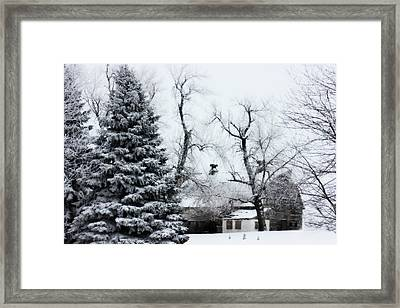 Estherville Barn Framed Print by Julie Hamilton