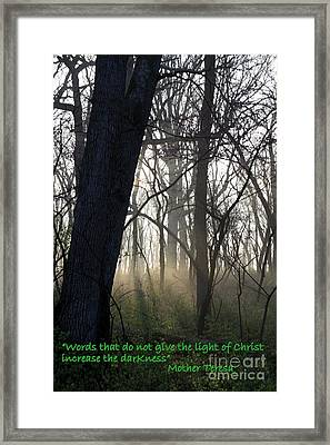 Eternal Light Framed Print by Rick Rauzi