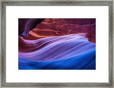 Eternal Wave - Slot Canyon Photograph Framed Print by Duane Miller