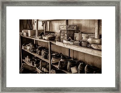 Eternally Waiting Bw Framed Print by David Morefield