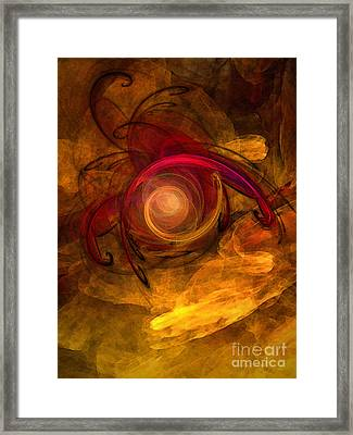 Eternity Of Being-abstract Expressionism Framed Print by Karin Kuhlmann