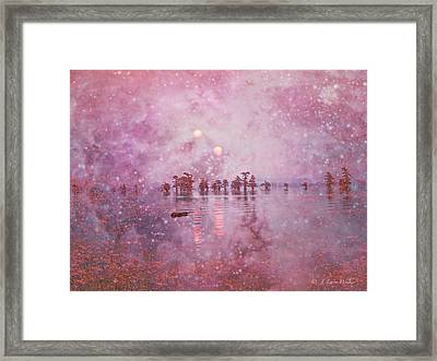 Ethereal Sunrise From Another World Framed Print by J Larry Walker