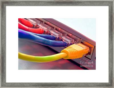 Ethernet Framed Print by Olivier Le Queinec