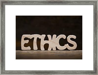 Ethics Framed Print by Donald  Erickson