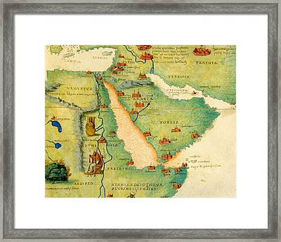 Ethiopia, The Red Sea And Saudi Arabia, From An Atlas Of The World In 33 Maps, Venice, 1st Framed Print by Battista Agnese