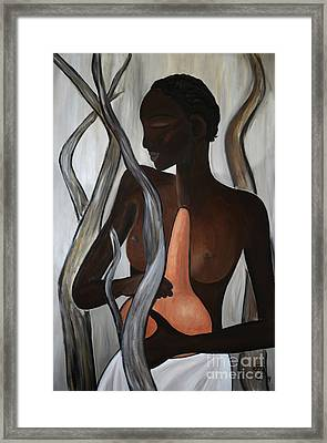 Ethiopian Woman - Nuer Framed Print by Eva-Maria Becker