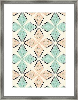Ethnic Folk Print Framed Print by Susan Claire