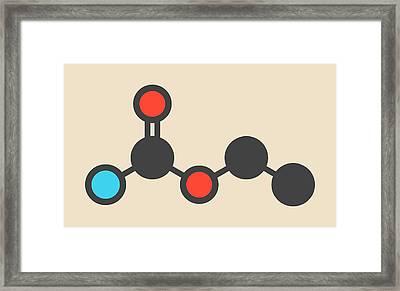 Ethyl Carbamate Carcinogenic Molecule Framed Print by Molekuul