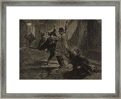 Etievant, The Anarchist Commits Framed Print by F.L. & Tofani, Oswaldo Meaulle