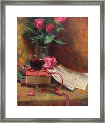 Etude Framed Print by Anna Rose Bain