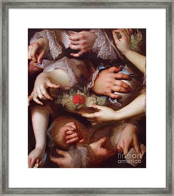 Etude De Main Framed Print by Pg Reproductions