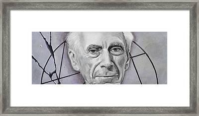 Euclid- Bertrand Russell Framed Print by Simon Kregar