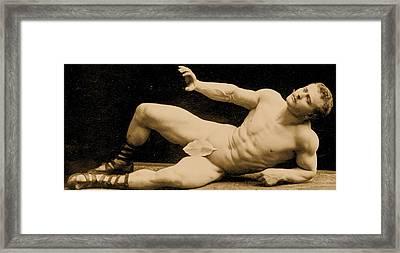 Eugen Sandow Framed Print by Benjamin J Falk