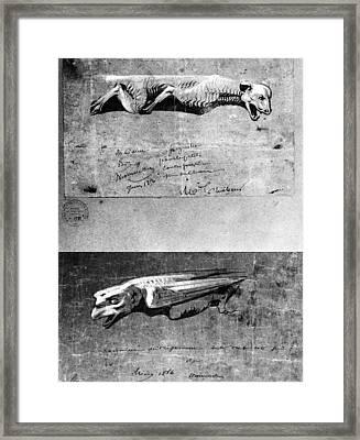 Eugene Viollet-le-duc French Architect Framed Print by Granger