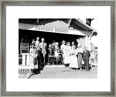 Eugenics Contest At Public Fair Framed Print by American Philosophical Society